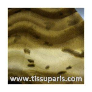 Tissu Fausse Fourrure marron FAM01