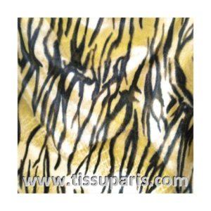 Tissu Fausse Fourrure Tigre Jaune Clair FAT03