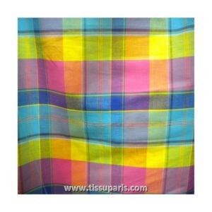 Tissu coton madras MDS010