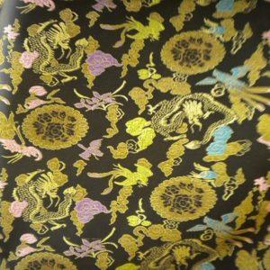 Tissu Chinois Noir CHN01