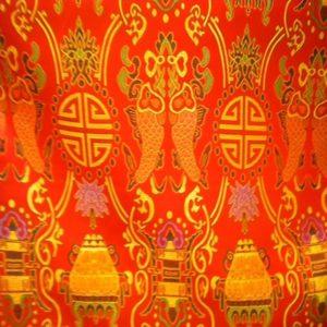 Tissu Chinois Orange CHO01
