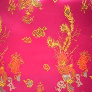 Tissu Chinois Rose CHr01
