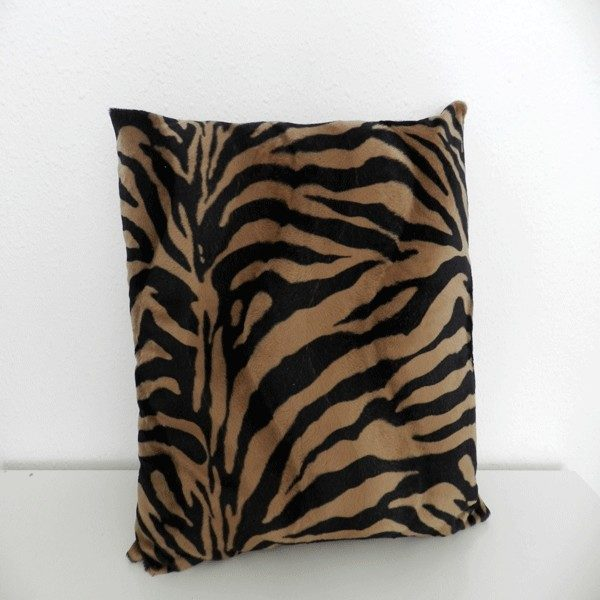 housse de cousin zebre marron HC02