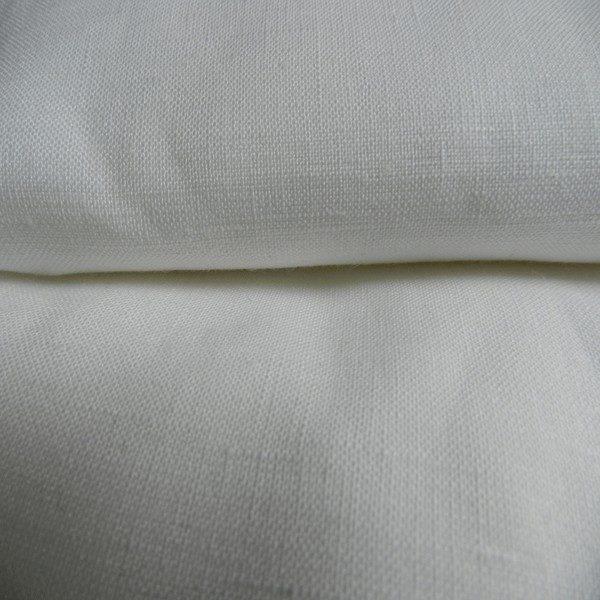 Tissu lin blanc LIN02