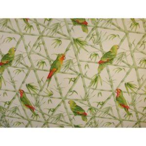 Tissu Perroquets Verts ATPQ01