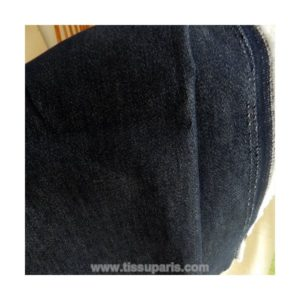 Tissu jean uni noir TJ03
