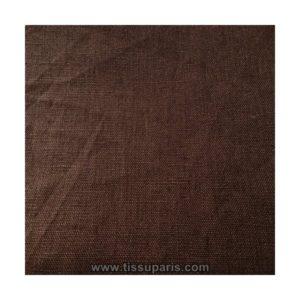 Tissu lin marron LIN15