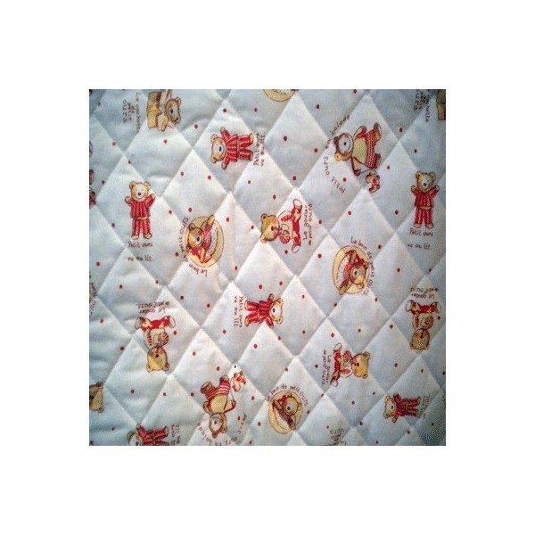 Tissu enfants matelass efml04 tissu paris vente de tissus au m tre en ligne - Tissu matelasse pour bebe ...