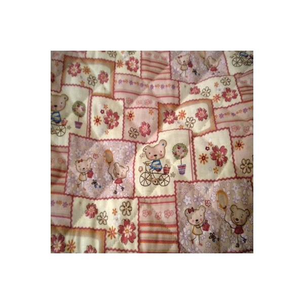 Tissu enfants matelass efml05 tissu paris vente de tissus au m tre en ligne - Tissu matelasse pour bebe ...