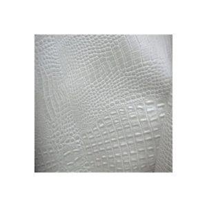 Simili cuir croco blanc SIM04