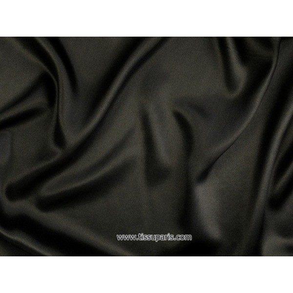 Satin de Soie (Pure Soie) RS-10112 Noir