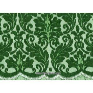 Dentelle calais Radegonde 90cm x 4 m vert
