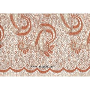 Dentelle de Calais Teoxena 90 cm x 3,6 m ORANGE