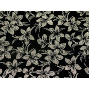 Velours Motifs floral noir SOPO-1151 110cm