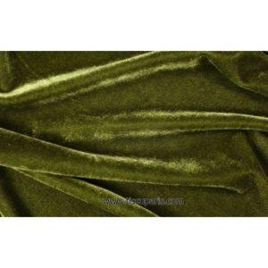 Velours stretch vert olive 1719-4