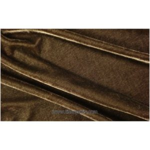 Velours stretch marron 1719-3