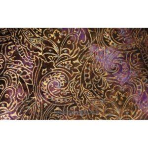 Velours imprimé or violet 901109-4