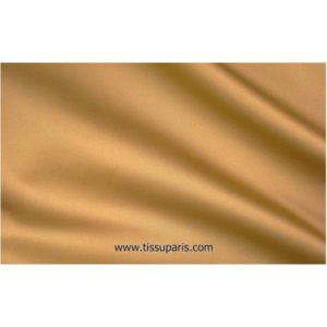 Satin de coton stretch brun chameau 501537-9