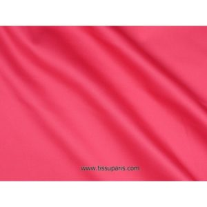 Satin de coton stretch rose vif 501537 -076