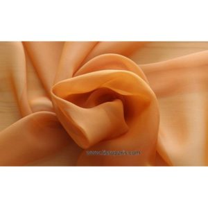 Mousseline Cangiante Soie orange 221044