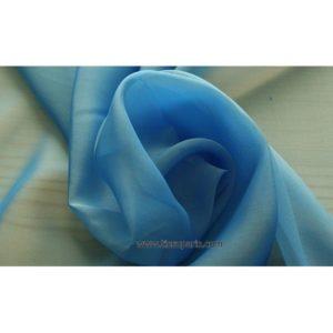 Mousseline Cangiante soie bleu 221141