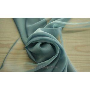 Mousseline Cangiante soie gris 221147