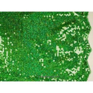 Tissu Pailleté bords arqués vert 5274-12 125cm