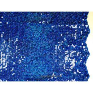 Tissu Pailleté bords arqués bleu 5274-15 125cm
