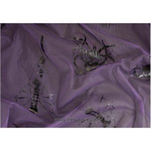 Tulle noir-violet SOPO-0573 140cm