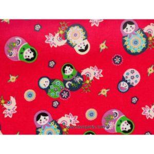 Tissu Poupées Russe rouge3586-3 140cm