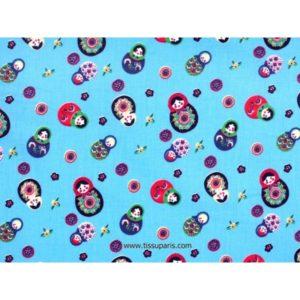 Tissu Poupées Russe bleu clair 3585-1 140cm