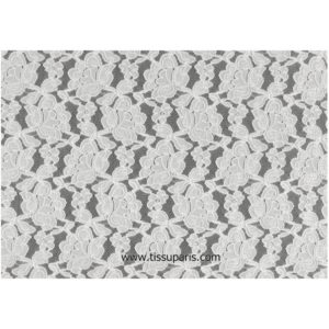 Tissu dentelle blanche SOPO-0223 115cm