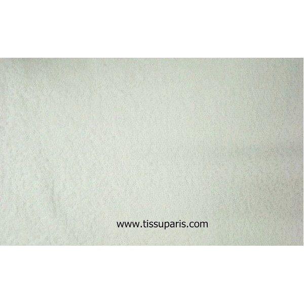 Tissu éponge blanc uni 150cm 1437-2