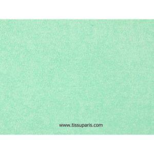 Tissu éponge menthe uni 150cm 1437-24