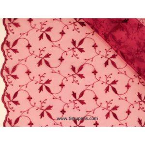 Organza brodé de qualité rouge 137cm 501787-6