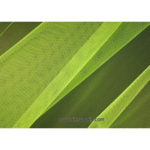 Tissu tulle doux nylon vert fluo 150cm 5433-8