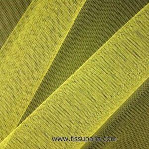 Tissu tulle doux nylon jaune flashant 150cm