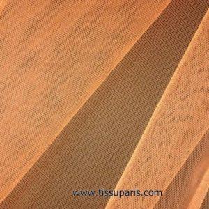Tissu tulle doux nylon orange 150cm