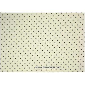 Coton à pois (2mm), blanc-noir, 140cm 1829-10