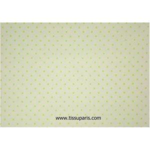 Coton à pois (2mm) blanc-vert clair 140cm 1829-2