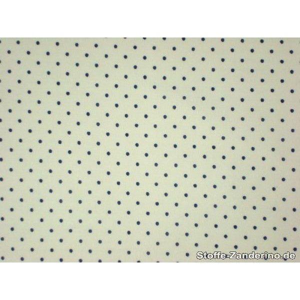 Coton à pois (2mm), blanc-bleu 140cm 1829-14