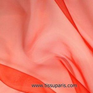 Organza de nylon rouge carmin env. 145cm 7310-25