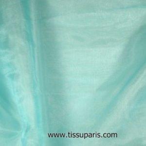 Organza de nylon turquoise bleu env. 145cm