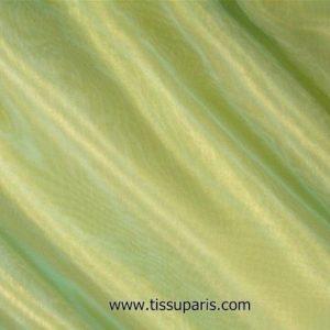 Organza nylon deux tons turquoise-jaune env. 147cm 7327-34