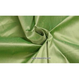 Doupion Vert 100% Soie sauvage