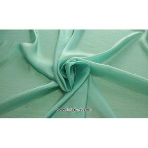 Taffetas Vert turquoise ( 100% Soie )