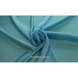 Taffetas bleu turquoise 402143 ( 100% Soie )