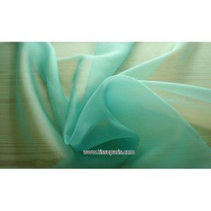 Organdi bleu turquoise 131083 100% Soie