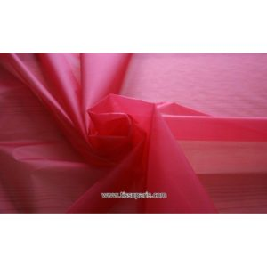 Organdi rouge 131101 100% Soie