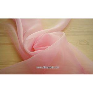 Organdi rose 131140 100% Soie